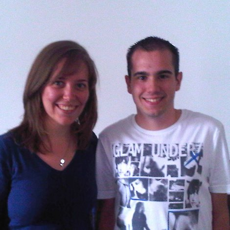 Caroline and Julien - our new French interns