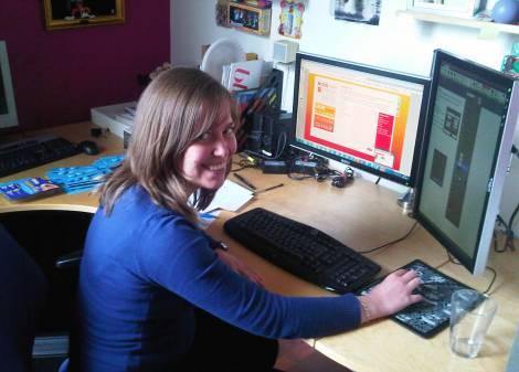 Caroline - our new French intern