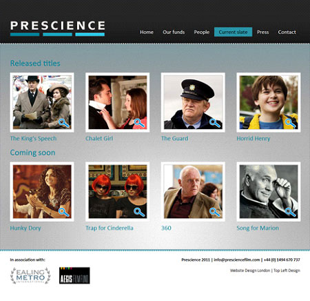 Prescience - case studies page