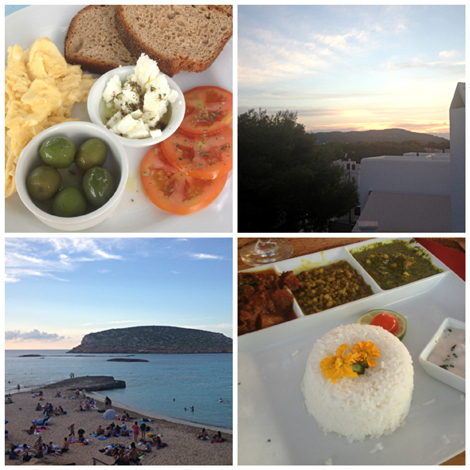 Food and Scenery in Ibiza - it wasn't all work!