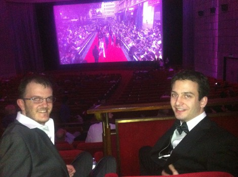 JP and Kevin in the theatre