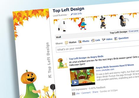 Top Left Design Facebook Page