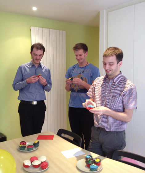 Geek Appreciation Day - JP, Chris, Kevin and cupcakes