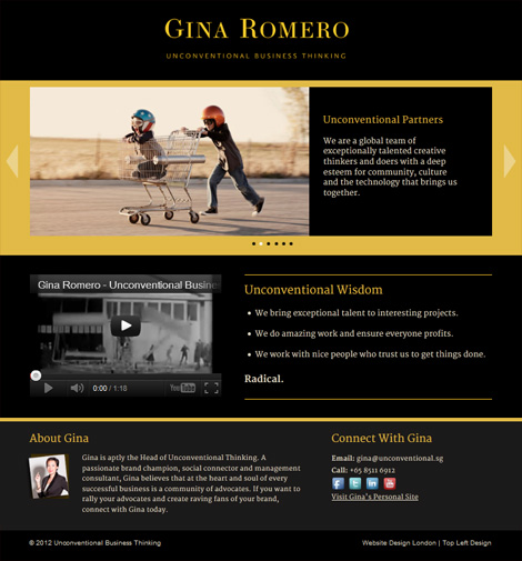 Gina Romero's website
