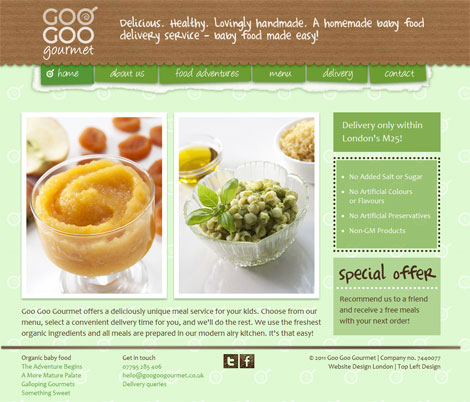 Goo Goo Gourmet website