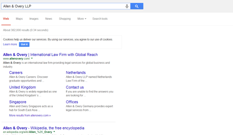 G+ Search results - Allan & Overy