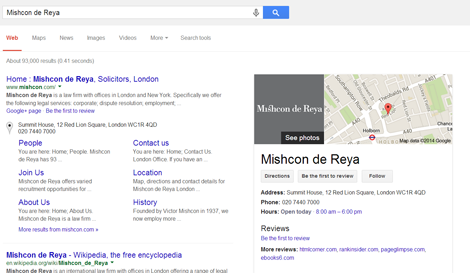 G+ Search results - Mishcon de Reya