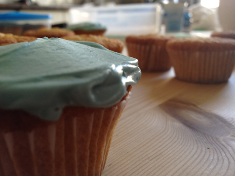 TLD cupcakes in the making - an arty shot
