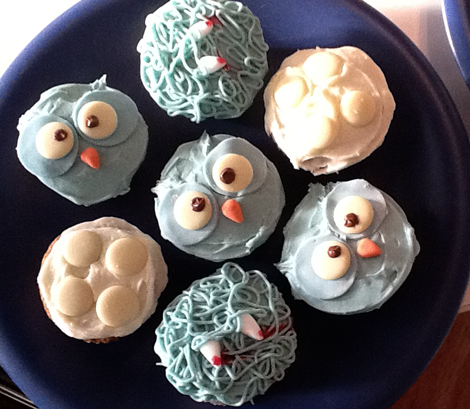Halloween cupcakes - warning - some of these have fangs