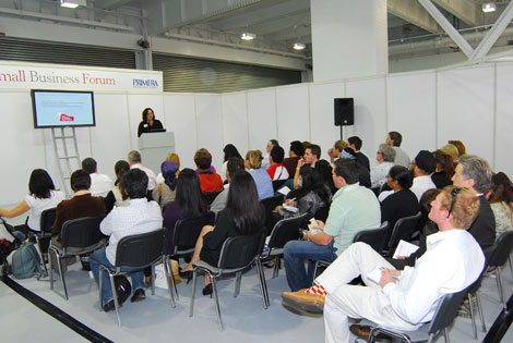 Jane sharing her marketing expertise with food businesses at Speciality and Fine Food Fair 2009
