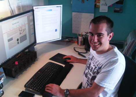 Julien - our new French intern