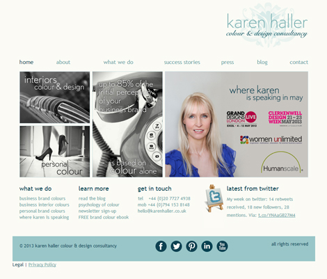 Karen Haller Colour & Design Consultancy Website