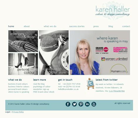 Karen Haller Colour & Design Consultancy Website