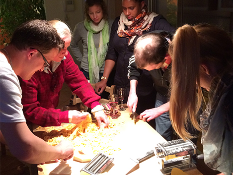 TLD in Lake Garda - pasta making