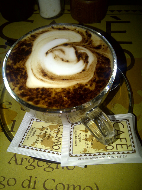 "Cappuccino - or ""Cappucci"" as they are called"