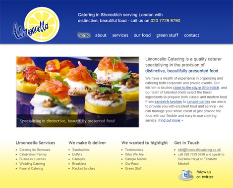 Limoncello website