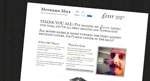 Movember Mike 2011 Website