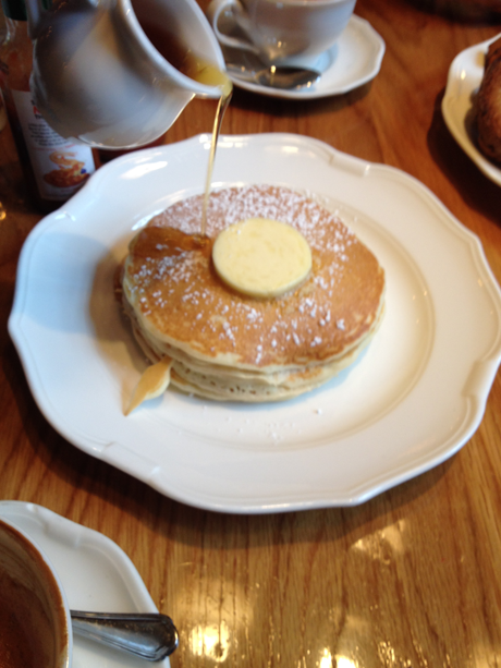 Pancakes with maple syrup - yum