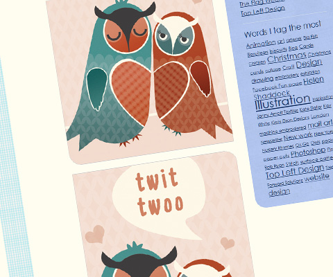 "Tina Webster's ""Twit Twoo"" illustration"