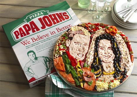 Papa John's royal wedding pizza