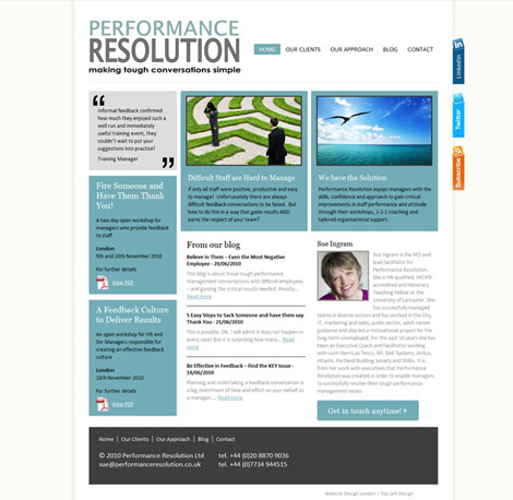 Performance Resolution website