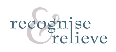 Recognise & Relieve logo design 3