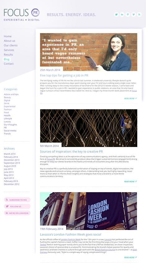 Focus PR - Blog