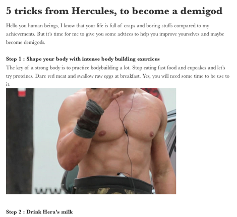 5 Tricks from Hercules - Tumblr