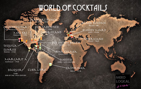 World Map of Cocktails - Facebook Page