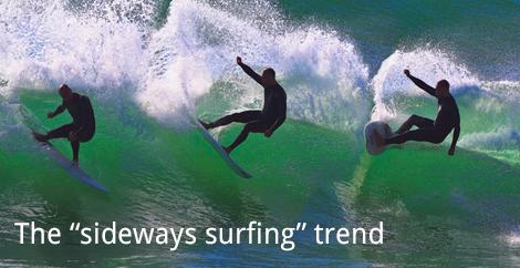 Sideways Surfing - website browsing trend