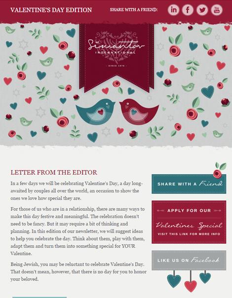 Simantov newsletter - Valentine's Day - header