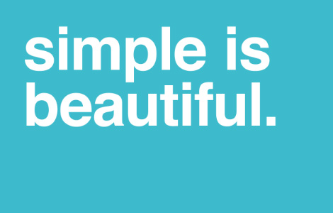 Simple is beautiful - when it comes to website design and choosing WordPress themes
