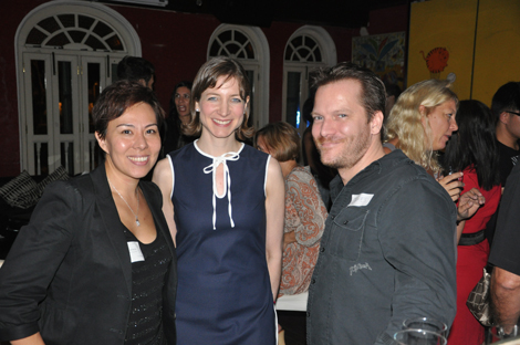 "Gina, Keren and James at ""Business Rocks"""