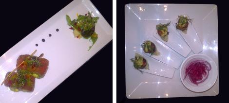 Salad Caprice & Pistachio Dressed Scallops