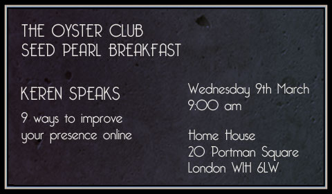 The Oyster Club - Seed Pearl Breakfast - Keren Speaks - 9th March 2011