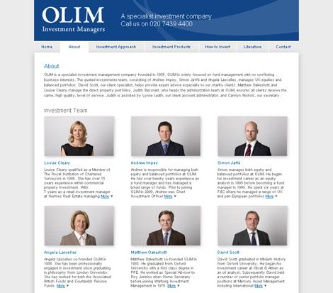 Olim team page