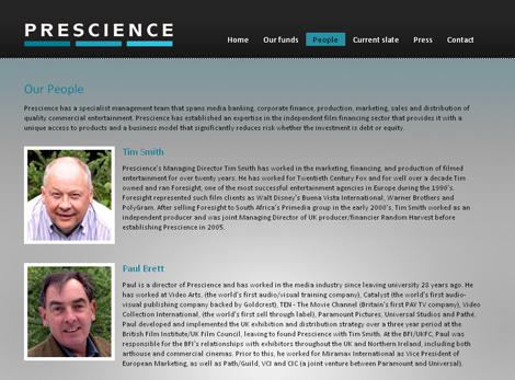 Prescience team page