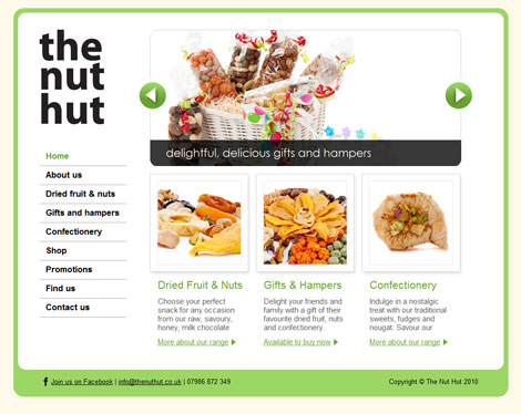 The Nut Hut website