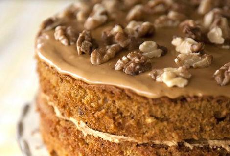 Walnut cake - popular at office parties